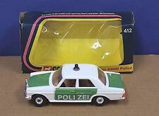 Corgi 412 B Mercedes Benz 240D Police Car MIB 1975 White Green 1:36 Polizei