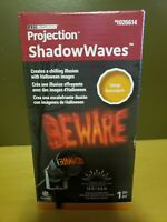 GEMMY Beware Halloween LightShow Projection-Shadow Waves-Beware (Orange) spooky