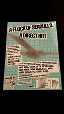 "A Flock Of Seagulls ""A Direct Hit"" 1982 Rare Original Print Promo Poster Ad"