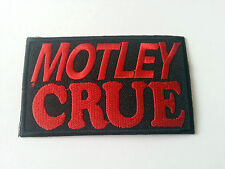HEAVY METAL PUNK ROCK MUSIC SEW / IRON ON PATCH:- MOTLEY CRUE (a) PATCH No. 0038