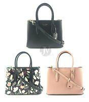 Kate Spade (WKRU6114) Eva Leather Small Top Zip Satchel Crossbody Hand Bag