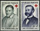 FRANCE 1958  St Vincent de Paul et JH Dunant n° 1187-1188  Neufs ★★ luxe / MNH