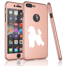 For Apple iPhone 360° Thin Slim Case Cover Glass Screen Protector Poodle