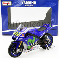 MAISTO 31408 YAMAHA FACTORY RACING 2016 YZR-M1 MOTOR GP BIKE 1/10 #46 V. ROSSI