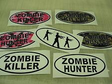 ZOMBIE HUNTER KILLER OVAL Decal Wholesale LOT Target Pink Camo Killer Window Gun