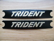 60-4569 TRIUMPH TRIDENT BLACK / GOLD T160 SIDE COVER PANEL BADGE DECAL (PR) *