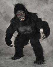 Professional Gorilla Ape Adult Halloween Costume Suit  Mask Hands Feet
