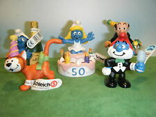 SCHLEICH 50TH ANNIVERSARY SMURF PARTY 5 FIGURE LOT  *NEW*