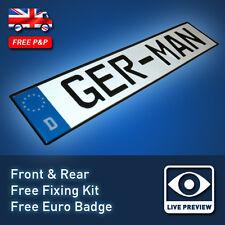 German Aluminium Metal 3D Embossed Pressed Euro Reg Number Licence Plates 26