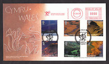 2004 A BRITISH JOURNEY WALES SET OF 6 ON FDC WITH SP/HS AND METER MARK
