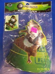 RARE G-Force Disney Secret Agent Spy Movie Kids Birthday Party Favor Cone Hats