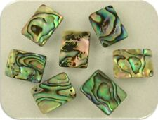 Abalone Beads Seashell Mother of Pearl Reversible Ocean Sea 2 Hole Sliders QTY 7