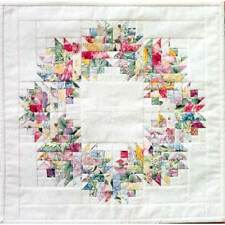 FLORAL WREATH QUILT QUILTING PATTERN, Paper Foundation Pattern From MH Designs