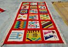 Hand Knotted Bulgaria Pictorial Wool Kilim Kilm Area Rug 5 x 3 Ft (10118 KBN)
