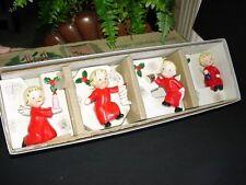 Vintage Christmas - NAPCO - NOEL ANGEL LETTER SET - candleholders/vases figurine