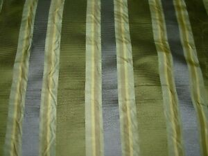 10 YDS 100% SILK STROHEIM STRIPES WOVEN DRAPERY UPHOLSTERY FABRIC FOR LESS