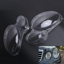 LR Headlight Clear Lens Cover For BENZ E Class W211 02-08 05 Sport