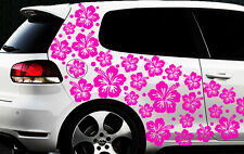 96x piezas Set Pegatinas De Coches Flores Del Hibisco Mariposas HAWAII Estrellas