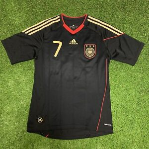 2010 Germany Schweinsteiger Black Away Jersey Shirt Kit S Small Adidas Fifa 7