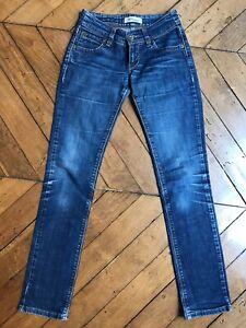Jeans LEVIS 571 SLIM FIT taille W26 L32 Bleu