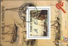 Sao Tome e Principe Block 204 gestempeld 1989 Navigatie