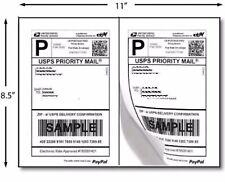 200 Half Sheet Self Adhesive Internet Shipping Labels for eBay PayPal 8.5 x 5.5