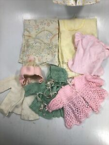 Vintage Handmade Lot Baby Stuff Jackets, Diaper Organizer, Receiving Blanket Hat