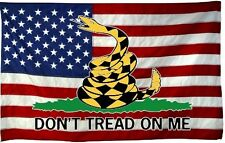 Gadsden American Flag sticker decal USA Flag Dont Tread on MeTruck car window B