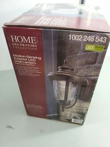 Home Decorators Bronze Motion Sensor Outdoor Integrated LED Wall Lantern Sconce