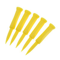 5Pcs Plastic Plastic Castle Golf Tee 70mm Yellow - Golfer Training Tool