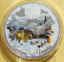 2016 Congo Russia Winter Christmas Silver Color Finish Proof Coin New Year Franc