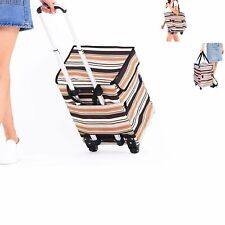 Fineget Fashion Grocery Shopping Trolley Bag Cart with Wheels for Women Senior