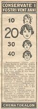 W8259 Crema TOKALON - Pubblicità del 1926 - Vintage advertising