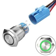 19mm 12v Momentarylatching Led Push Button Switch Stainless Steel Shell Wire