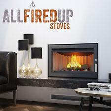 Kratki Jas 7kw Inset Wood Burning Stove Contemporary Design Steel Construction