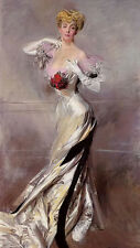 Oil painting giovanni boldini - portrait of the countess zichy nice noble woman