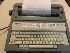 Brother GX-6000 Electronic Typewriter Correctronic Daisy Wheel & Cover & Ribbon