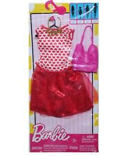 Genuine Mattel Barbie Doll Clothes Valentine's Day Hearts Dress Necklace Purse