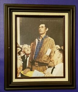 Norman Rockwell Gallery Freedom of Speech Framed Canvas Print with certification
