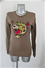 t-shirt long sleeves tiger head ED HARDY audigier size M NEW LABEL