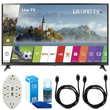 LG 43-inch Super UHD 4K HDR Smart LED TV (2017 Model) w/ Accessories Bundle
