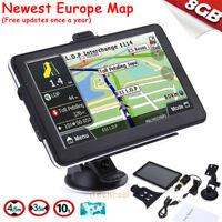 "7"" GPS Navigator SAT NAV Car Truck 8GB Navigation System W/ Free Updates EU Map"