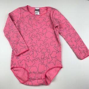 Girls size 2, Bonds, ribbed stretchy bodysuit, romper, mark front left arm, FUC