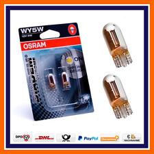 2X Osram Diadem Chrom WY5W W5W Seitenblinker Birnen BMW 5er e34 e39 e60 F10 X5