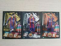 MATCH ATTAX 20/21 SET of MESSI LIMITED EDITION cards LE2G LE2S LE2B - MINT