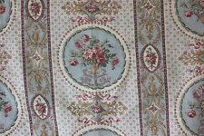 "Pretty Rose Antique French Linen Fabric c.1890-1900~18""L X 31""W~Dolls,Collectors"
