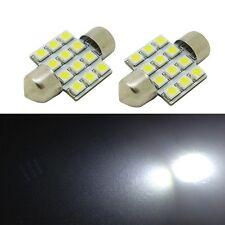 2 x White SMD LED Map Dome Trunk Light 31mm Festoon DE3175 3022 Bulbs