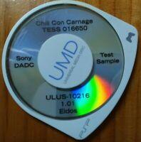 Prototype Demo Test Sample UMD Disc Sony PSP Chili Con Carnage Eidos Game! Rare