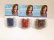 New SCUNCI Linziclip Jaw Clip Floral Design 38708 - Lot of 3 Packs