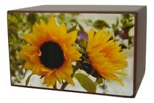 Sunflowers Cremation Urns for Human Ashes Adult Size